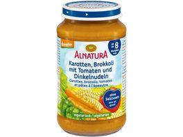 Alnatura Gemuesezubereitung Karotten Brokkoli Tomaten Dinkelnudeln