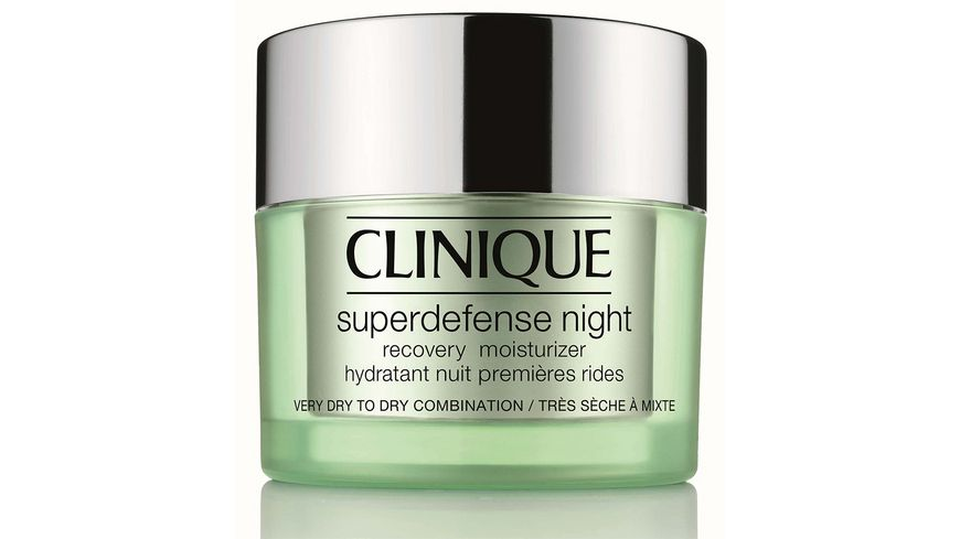 Clinique Superdefense Night Recovery Moisturizer sehr trockene Haut bis Mischhaut