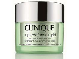 Clinique Superdefense Night Recovery Moisturizer Fuer sehr trockene Haut bis Mischhaut