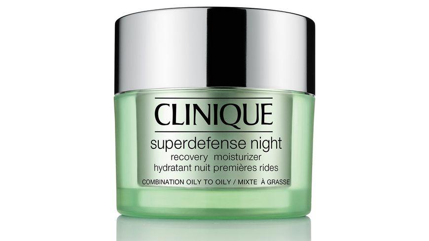 Clinique Superdefense Night Recovery Moisturizer Mischhaut bis ölige Haut