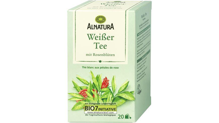 Alnatura Weisser Tee mit Rosenblueten 20 Beutel