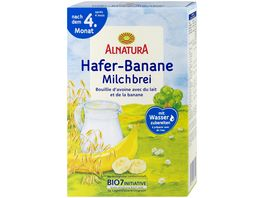 Alnatura Milchbrei Hafer Banane