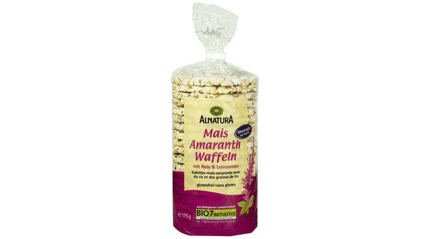 Alnatura Mais-Amaranth Waffeln 115G