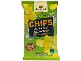 Alnatura Chips im Kessel gebacken Rosmarin Meersalz