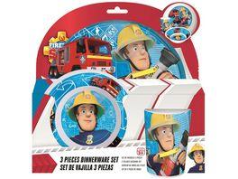 p os Handel Feuerwehrmann Sam Fruehstuecksset 3 teilig