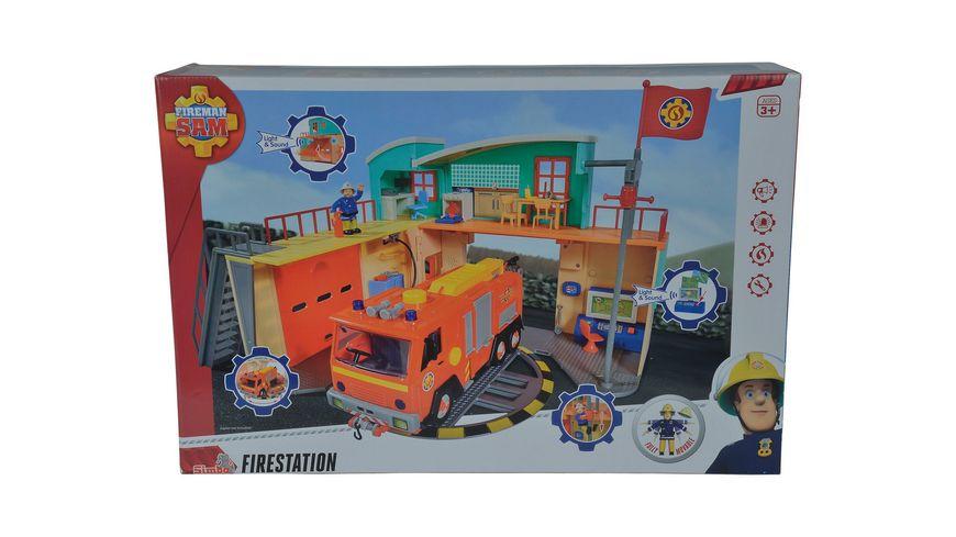 Simba Feuerwehrmann Sam Feuerwehrstation zum Aufklappen