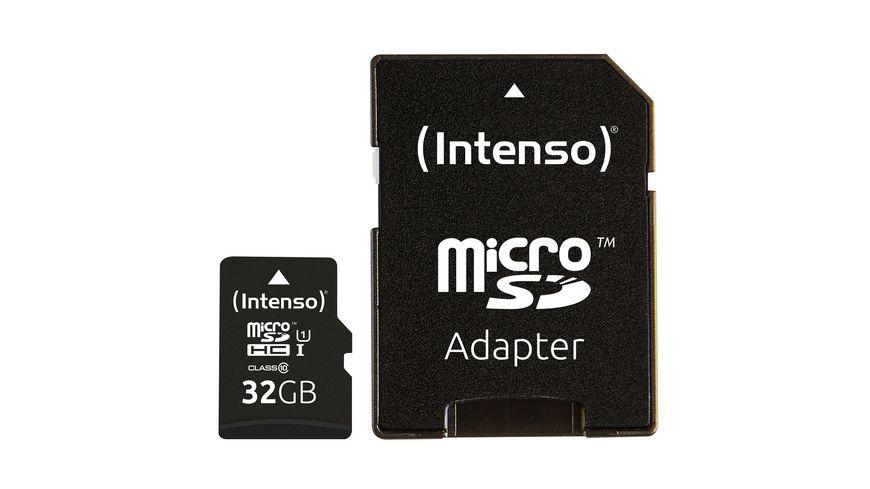 Intenso Micro SDHC Karte 32GB Class 10