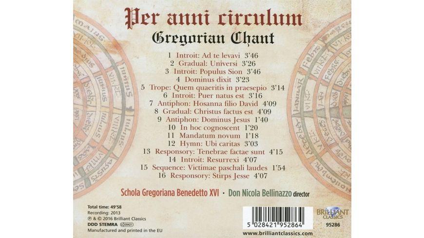 Gregorian Chant Per Anni Circulum