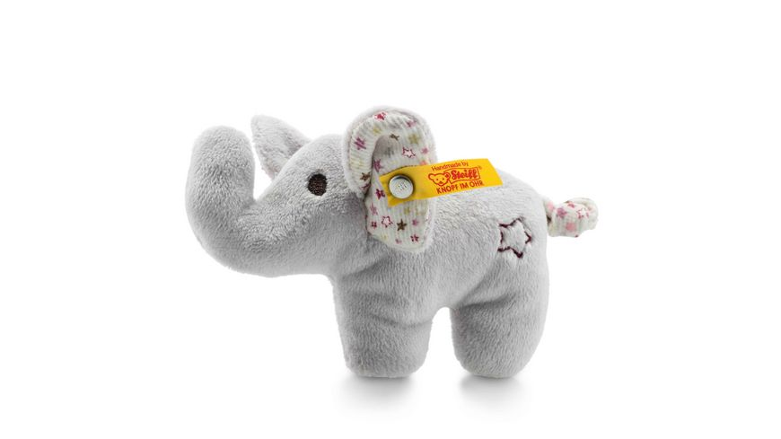 Steiff Babywelt Knistertiere Mini Knister Elefant mit Rassel grau 11cm