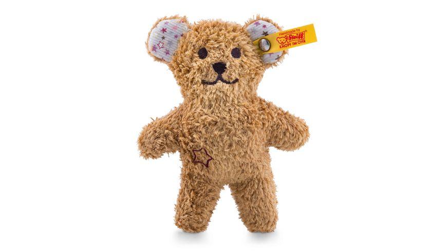 Steiff - Mini Knister-Teddybär mit Rassel, braun, 11cm