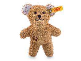 Steiff Mini Knister Teddybaer mit Rassel braun 11cm