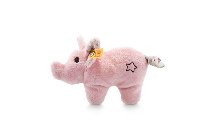 Steiff Mini Knister Schwein mit Rassel 11 cm