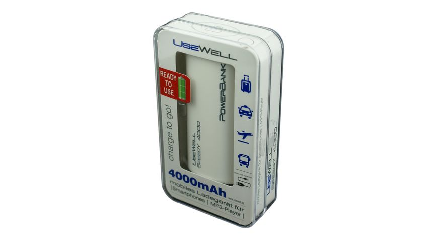 Usewell Powerbank 4000mAh Speedy weiss