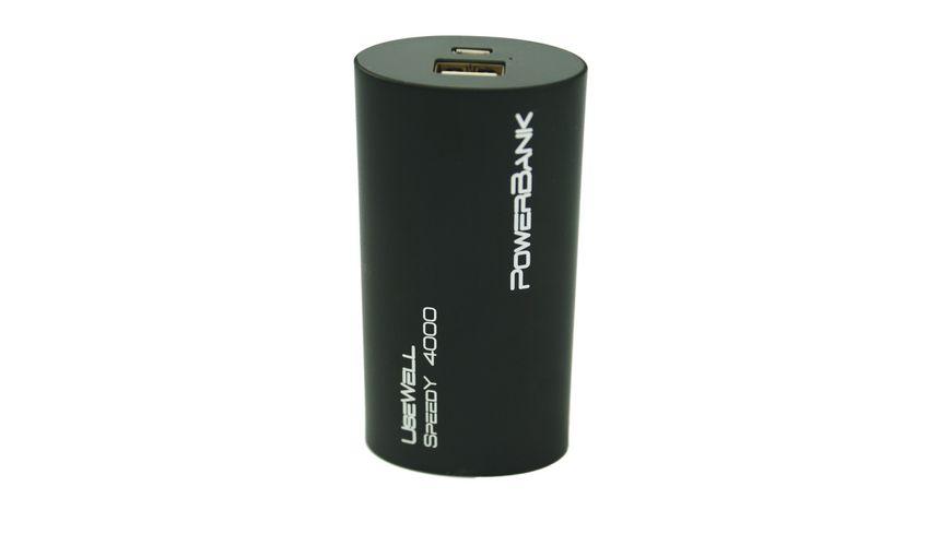 Usewell Powerbank 4000mAh Speedy schwarz