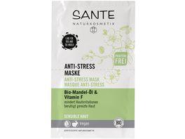 SANTE Anti Stress Maske Bio Mandel Oel Vitamin F