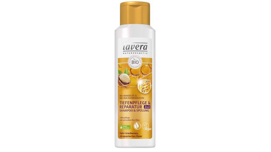 lavera Tiefenpflege Reparatur 2 in1 Shampoo Spuelung