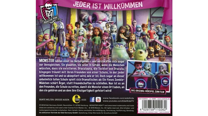 Willkommen An Der Monster High Hoerspiel z Film