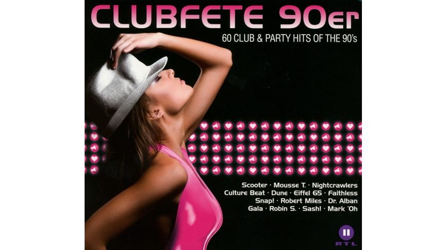 Clubfete 90er 60 Club Party Hits Of The 90 s