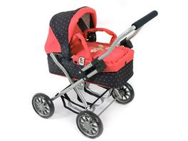Bayer CHIC 2000 Mini Kuschelwagen Smarty Design Dots Koralle