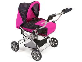Bayer CHIC 2000 Kombipuppenwagen Piccolina Design Dots Navy Pink