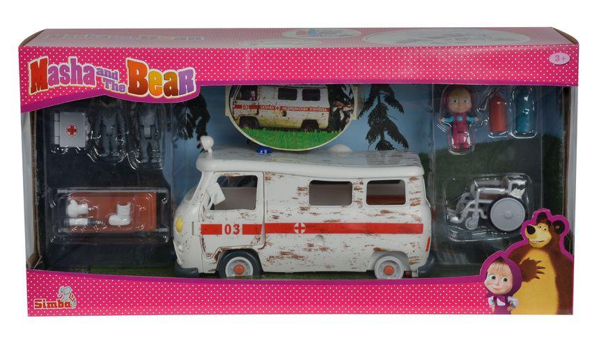 Simba Masha und der Baer Krankenwagen Masha Spielset