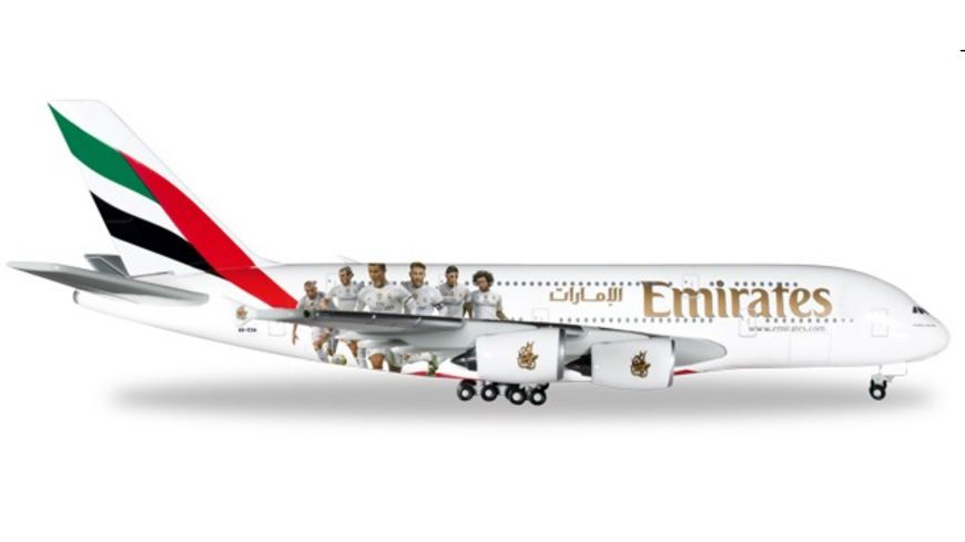 Herpa 529242 Wings Emirates Airbus A380 Real Madrid