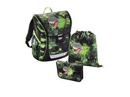 baggymax Schulranzen Set Fabby 3tlg Green Dino