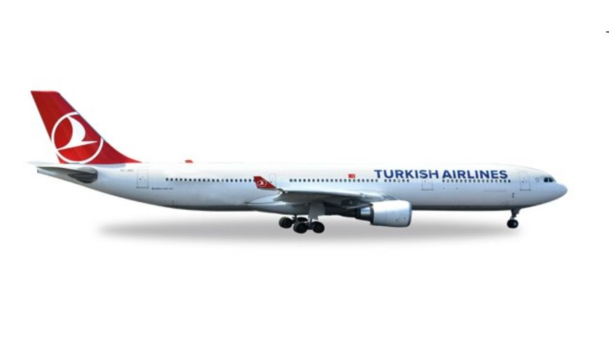 Herpa 529556 Wings Turkish Airlines Airbus A330 300 EM 2016