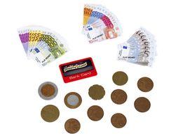 Theo Klein 9605 Euro Spielgeld mit Kreditkarte I 37 Scheine und 11 Muenzen von der 1 Cent Muenze bis zum 500 Euro Schein I Masse 20 cm x 0 5 cm x 20 cm I Spielzeug fuer Kinder ab 3 Jahren