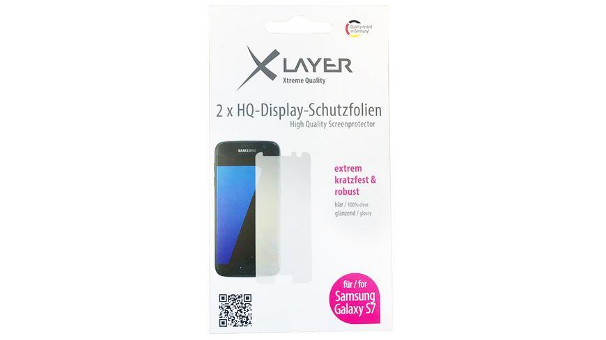 Schutzfolie XLayer 100 clear 2x Samsung Galaxy S7
