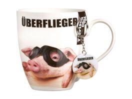 RITZENHOFF BREKER Kaffeebecher mit Schluesselanhaenger Fliegerbrille