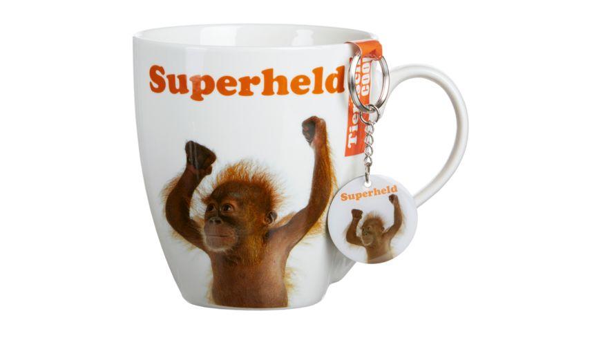 RITZENHOFF BREKER Kaffeebecher mit Schluesselanhaenger Superheld