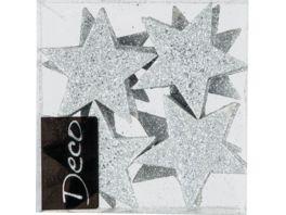 EUROSAND Deko Ornament Stern silber 8 teilig