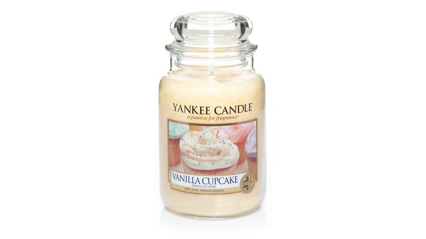 YANKEE CANDLE Grosse Duftkerze im Glas Vanilla Cupcake