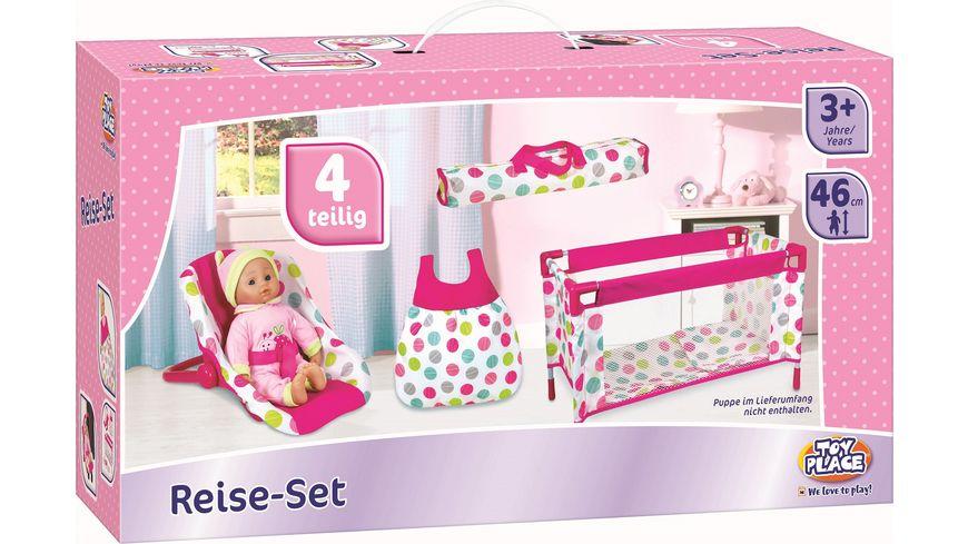 Mueller Toy Place Puppen Reiseset will mit Dir reisen Puppe im Lieferumfang nicht enthalten 1 Stueck sortiert