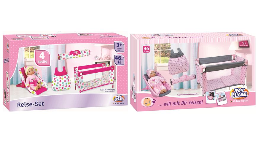 Mueller Toy Place Puppen Reiseset will mit Dir reisen Puppe im Lieferumfang nicht enthalten