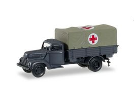 Herpa 745451 Ford Koeln Planen LKW Rotes Kreuz