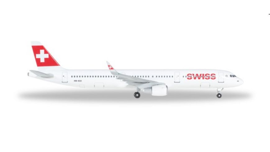 Herpa 529471 Wings Swiss International Airlines Airbus A321