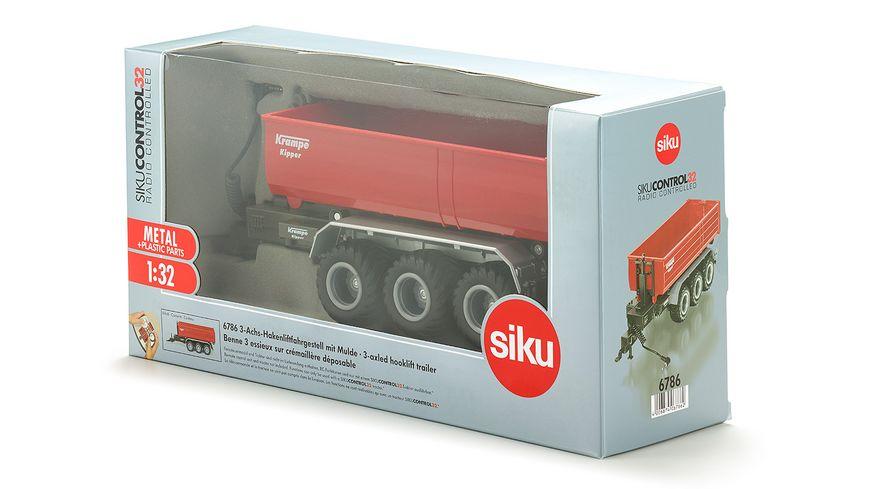 SIKU 6786 Control 32 3 Achs Hakenliftfahrgestell mit Mulde