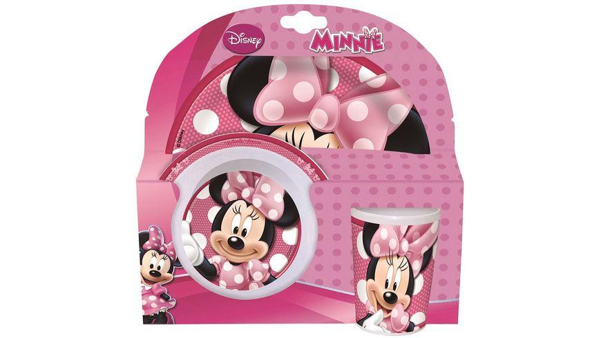 p os Handel 3tlg Melamin Fruehstuecksset Minnie Maus im Geschenksleeve