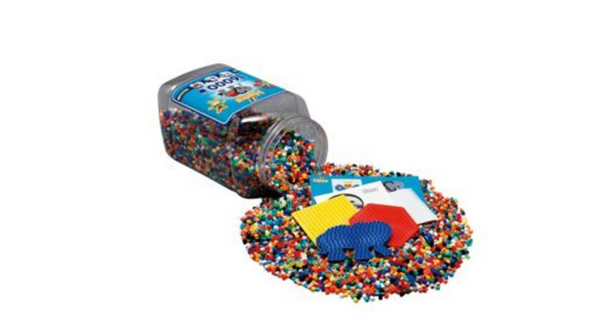 Hama Buegelperlen Dose mit Perlen und Stiftplatten Ca 16 000 Perlen
