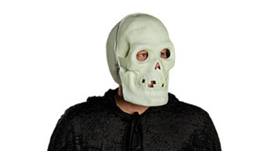 Mottoland Skull EVA Vollmaske nachleuchtend