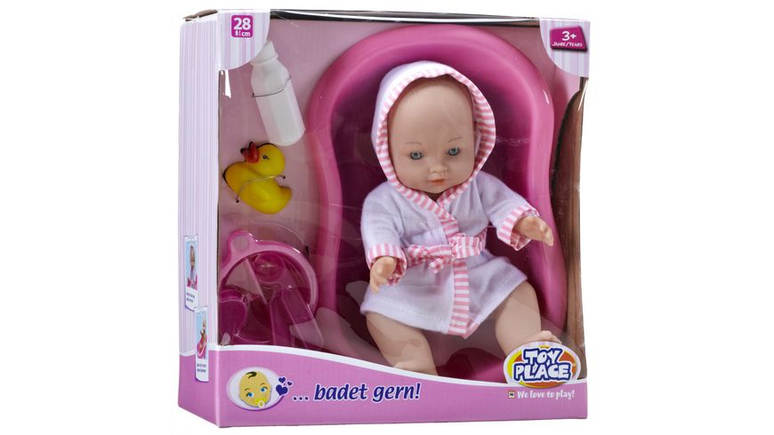 Mueller Toy Place Puppe badet gern 28 cm