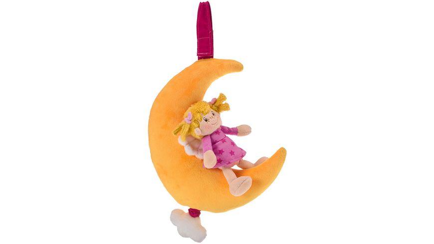 Mueller Toy Place Spieluhr Mond mit Engel Maedchen sortiert
