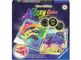 Ravensburger Beschaeftigung Malen und Basteln Glow Edition Mixxy Colors Welt der Delfine