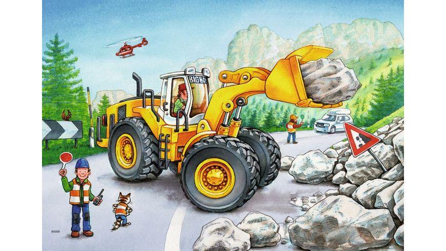 Ravensburger Puzzle Bagger und Waldtraktor 2x24 Teile