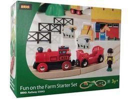 BRIO Bahn Bahnset Acht mit Bauernhof