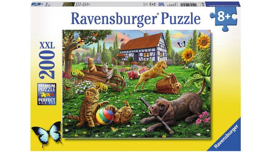 Ravensburger Puzzle Entdecker auf vier Pfoten 200 XXL Teile