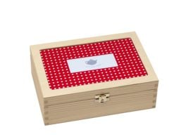 contento Teebox rot mit Punkten