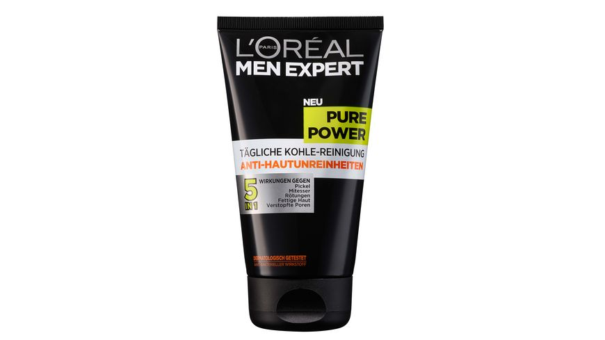 L OREAL PARIS MEN EXPERT Pure Power Kohle Reinigung